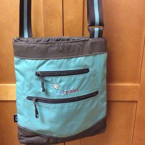 Sherpani Anya Green Brown Crossbody Nylon Bag